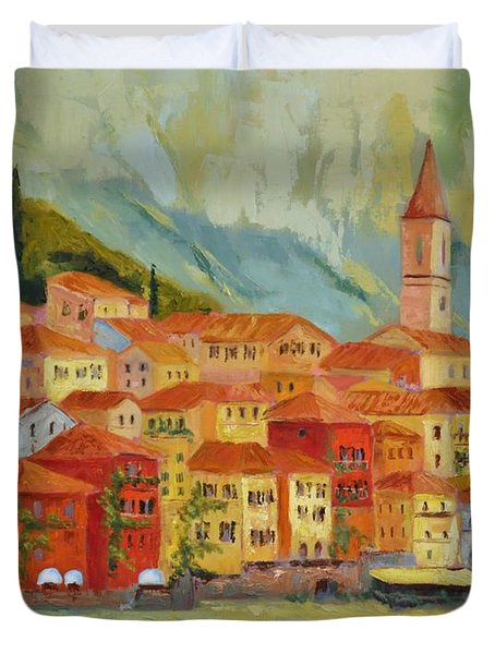 Varenna  Italy Duvet Cover by Ginger Concepcion