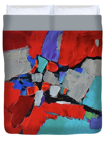 Duvet Cover featuring the painting Variation by Elise Palmigiani