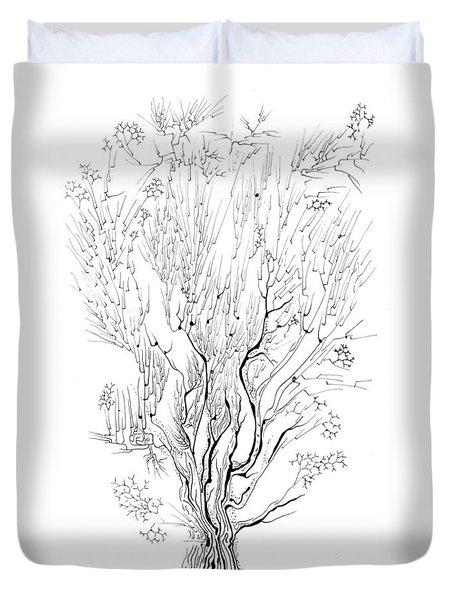 Variation On A Cayley Tree Duvet Cover by Regina Valluzzi