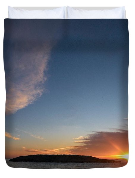 Duvet Cover featuring the photograph Variations Of Sunsets At Gulf Of Bothnia 2 by Jouko Lehto