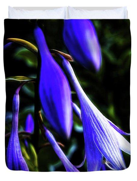 Varigated Hosta Bloom Duvet Cover
