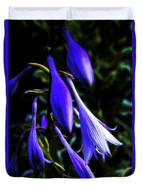 Varigated Hosta Bloom Duvet Cover