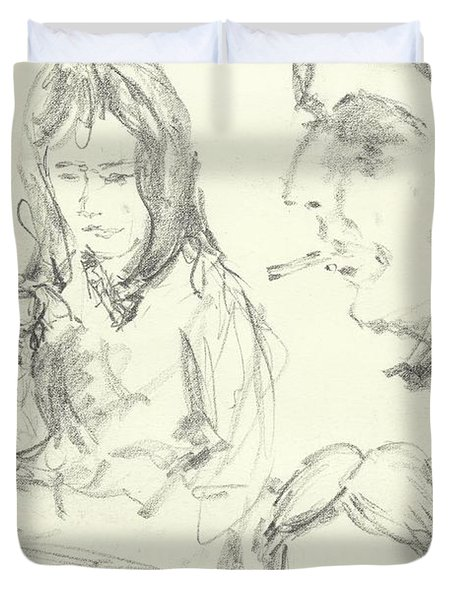 Various Sketches Of Women 2 Duvet Cover