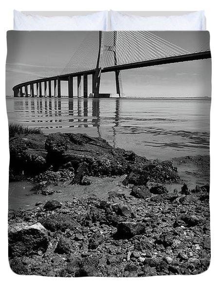 Vasco Da Gama Bridge II Duvet Cover