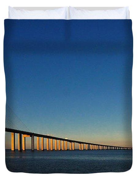 Vasco Da Gama Bridge Lisbon 1 Duvet Cover