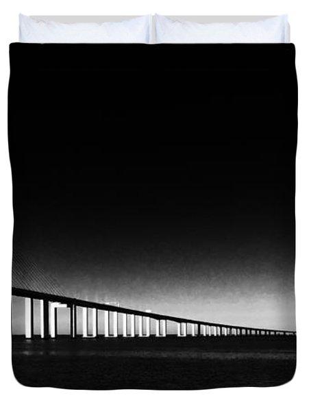 Vasco Da Gama Bridge Lisbon 2 Duvet Cover