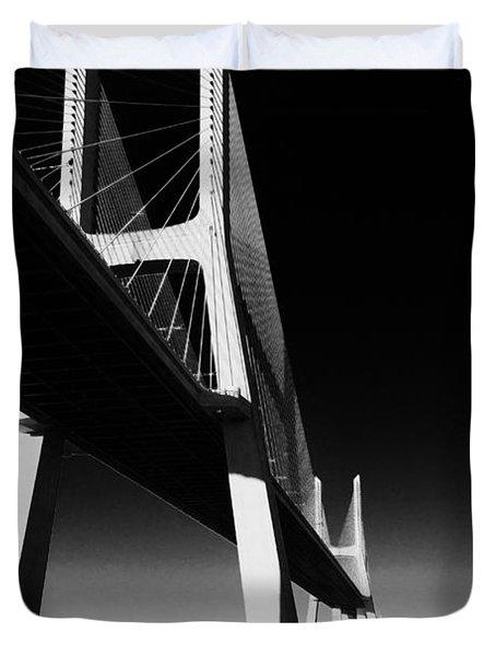 Vasco Da Gama Bridge Lisbon 4 Duvet Cover