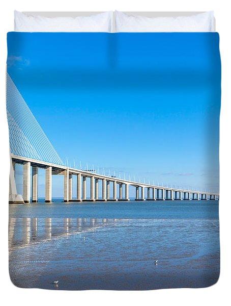 Vasco Da Gama Bridge, Lisbon Duvet Cover