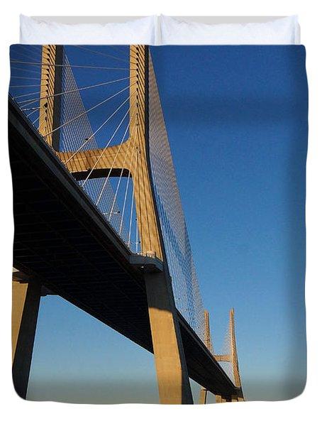 Vasco Da Gama Bridge Lisbon 3 Duvet Cover