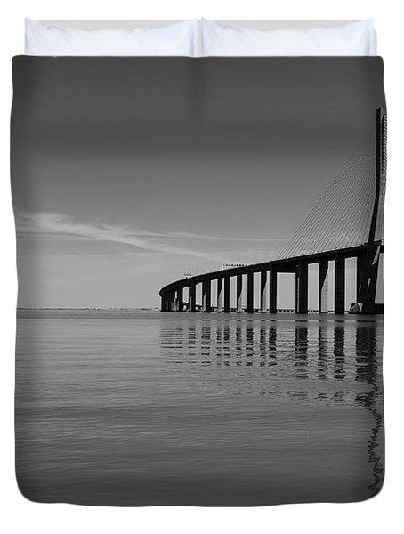 Vasco Da Gama Bridge Duvet Cover