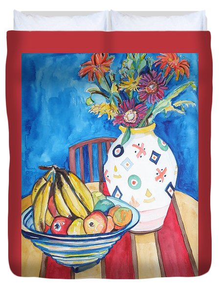 Vase And Bowl Duvet Cover by Esther Newman-Cohen