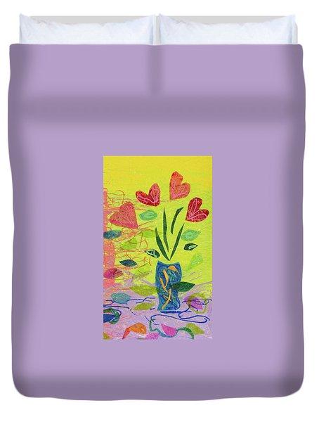 Vase Full Of Love Duvet Cover