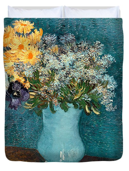 Vase Of Flowers Duvet Cover by Vincent Van Gogh