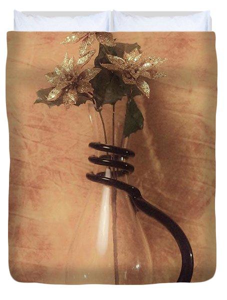 Vase Of Gold Duvet Cover