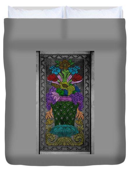 Vase On The Wall Duvet Cover