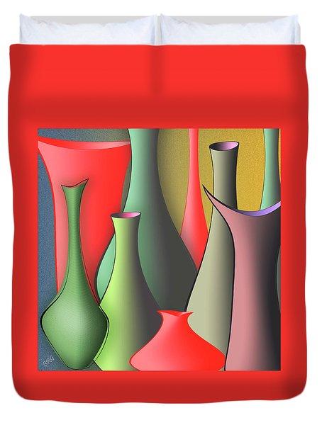 Vases Still Life Duvet Cover by Ben and Raisa Gertsberg