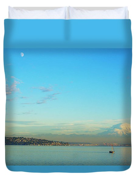 Duvet Cover featuring the photograph Vashon Island by Angi Parks