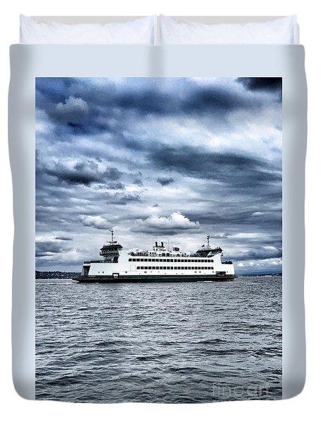 Vashon Island Ferry Duvet Cover