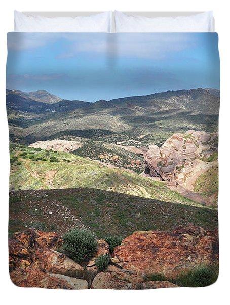 Vasquez Rocks Park Duvet Cover