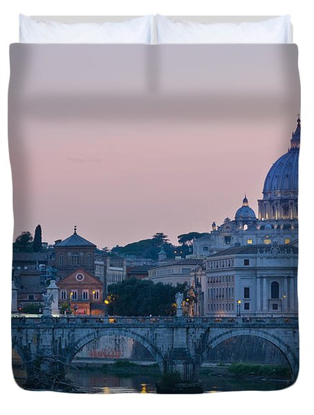 Vatican City At Sunset Duvet Cover