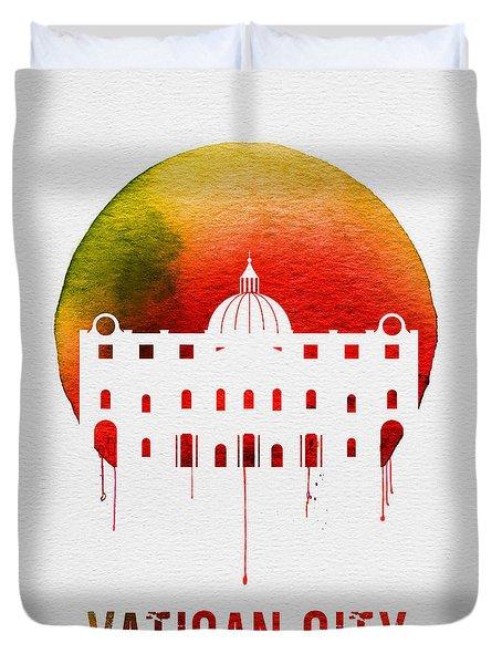 Vatican City Landmark Red Duvet Cover
