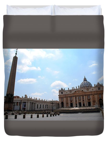 Vatican On Sunny Day Duvet Cover by Robert Moss