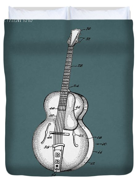 Vega Guitar Patent 1949 Duvet Cover by Mark Rogan