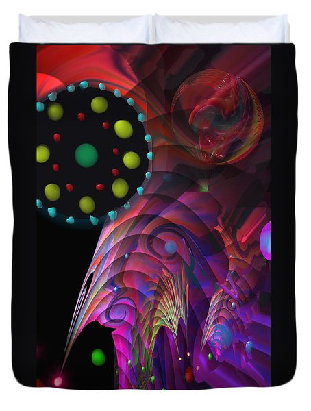 Duvet Cover featuring the painting Vegas Dreams by Kevin Caudill