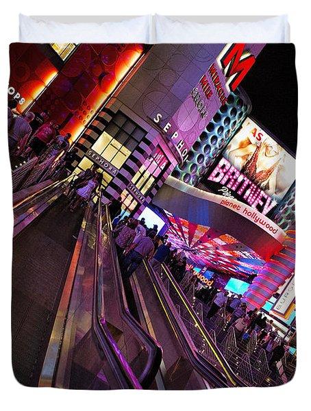 Vegas Nightlife Duvet Cover