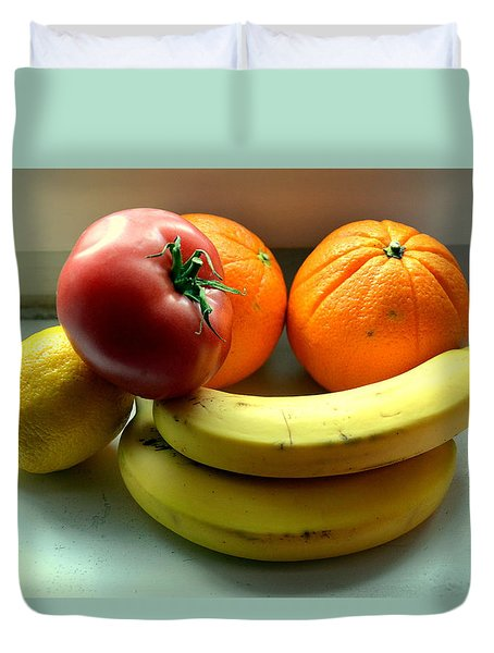 Vegetables And Fruits Duvet Cover