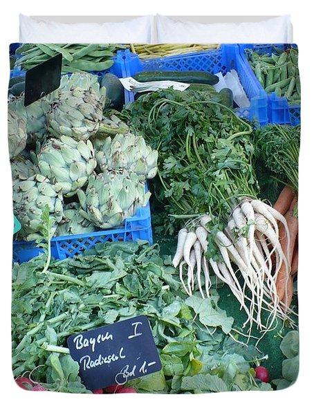 Vegetables At German Market Duvet Cover by Carol Groenen
