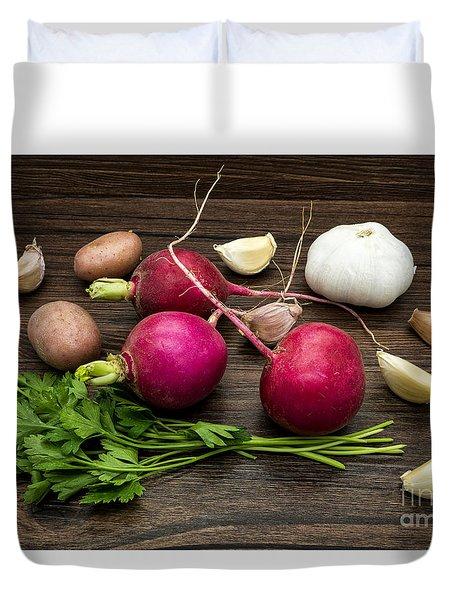 Vegetables Still Life Duvet Cover