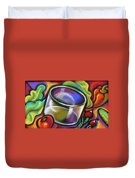 Vegetarian Food Duvet Cover by Leon Zernitsky