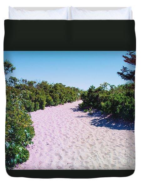Vegetation And Sand Duvet Cover