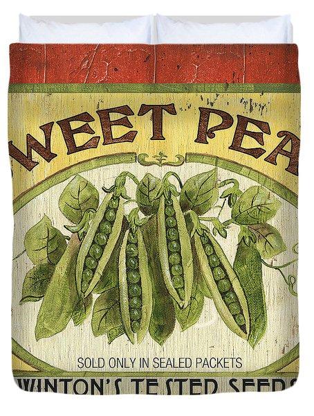 Veggie Seed Pack 1 Duvet Cover by Debbie DeWitt