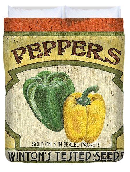 Veggie Seed Pack 2 Duvet Cover by Debbie DeWitt