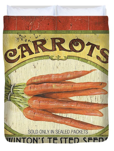 Veggie Seed Pack 4 Duvet Cover by Debbie DeWitt
