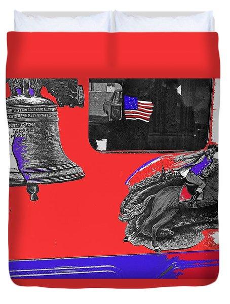 Vehicle Liberty Bell Paul Revere Flag Bicentennial Of Constitution Tucson Arizona 1987-2015 Duvet Cover