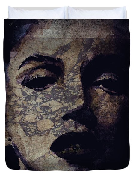 Duvet Cover featuring the painting Veil Of Secrecy by Paul Lovering
