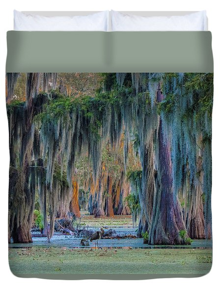Unveiling The Secrets Of Da Swamp At Cypress Island Preserve Duvet Cover