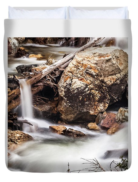 Velvet Falls - Rocky Mountain Stream Duvet Cover