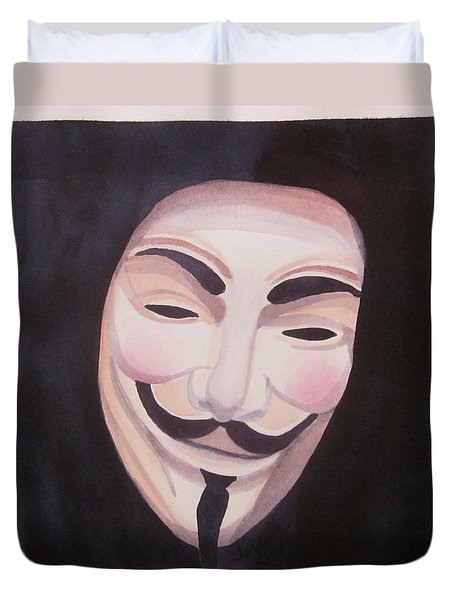 Duvet Cover featuring the painting Vendetta by Teresa Beyer