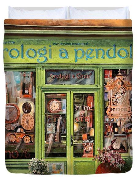 Vendita Di Orologi A Dondolo Duvet Cover