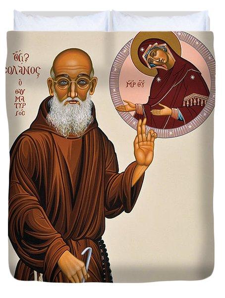 Venerable Fr. Solanus Casey The Healer 038 Duvet Cover