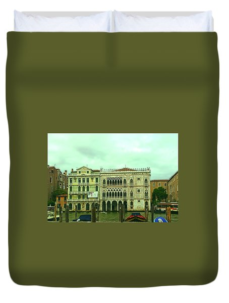 Duvet Cover featuring the photograph Venetian Aternoon by Anne Kotan