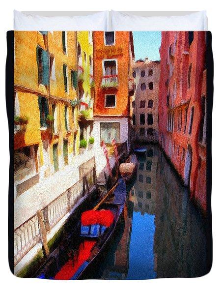 Venetian Canal Duvet Cover by Jeffrey Kolker