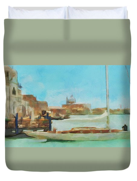 Venetian Canal Duvet Cover by Sergey Lukashin