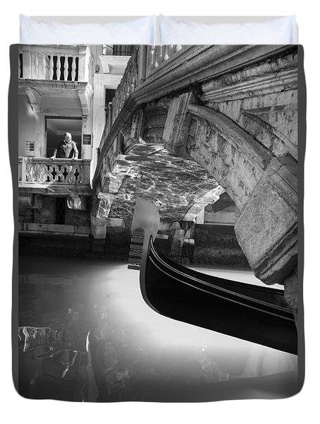 Venetian Daily Scene Duvet Cover