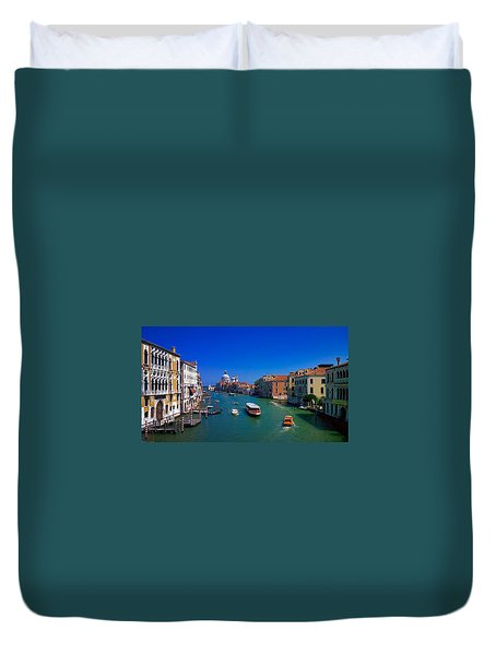 Duvet Cover featuring the photograph Venetian Highway by Anne Kotan
