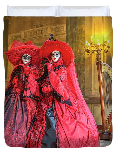 Venetian Ladies In The Palace Duvet Cover